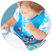 Wean Meister Easy Rinse Baby Bibs Mint Teal Blue