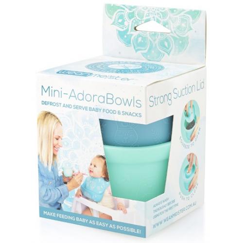 Wean Meister Mini Adorabowls Grey Mint Teal