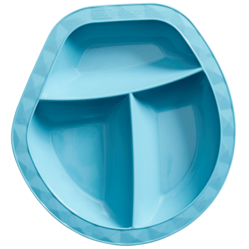 Wean Meister Scoopsy Plate Teal Blue