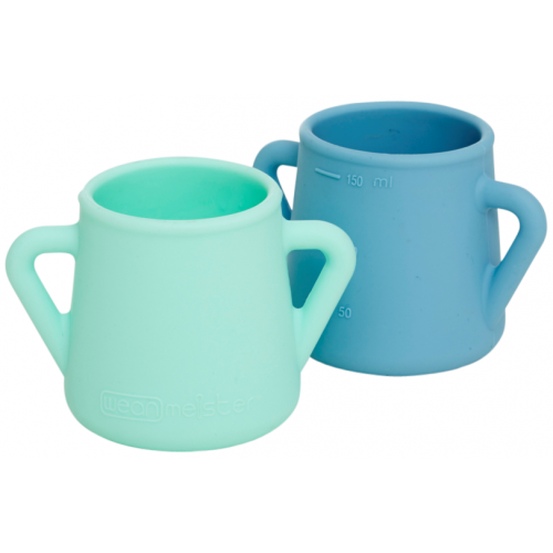 Wean Meister Sippy Skillz Cup Mint Teal Blue