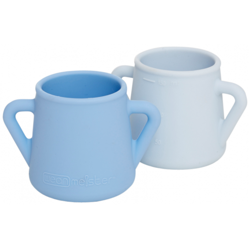 Wean Meister Sippy Skillz Cup Baby Blue Grey