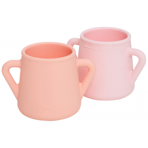 Wean Meister Sippy Skillz Cup Peach Baby Pink