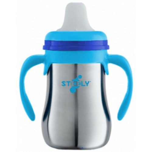 Steely First Sip Cup Blue