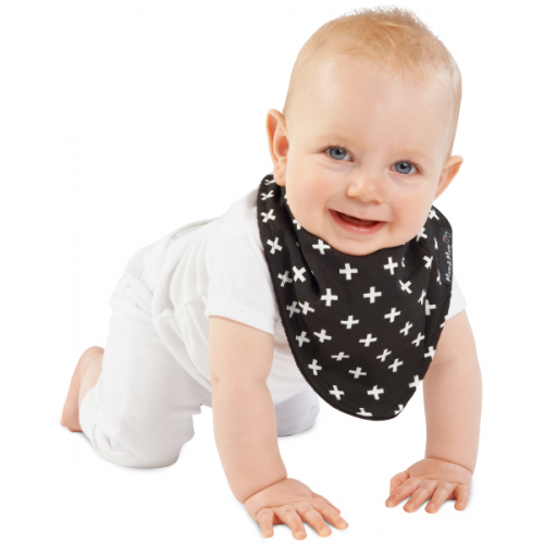 Mum 2 Mum Fashion Bandana Wonder Bib Black Plus Black