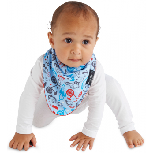 Mum 2 Mum Fashion Bandana Wonder Bib Transport Red