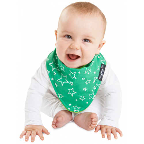 Mum 2 Mum Fashion Bandana Wonder Bib Green Stars Lime