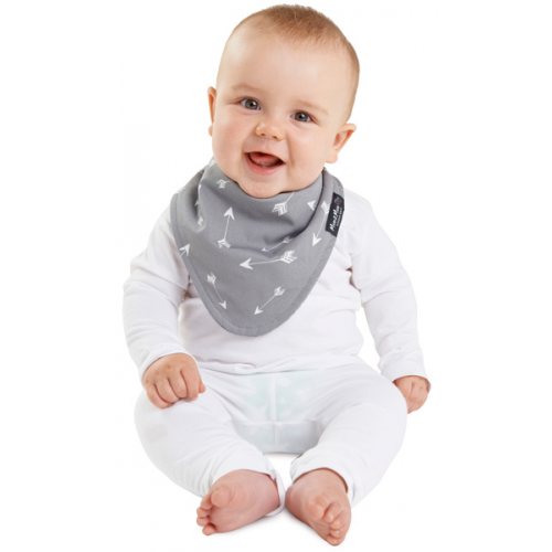 Mum 2 Mum Fashion Bandana Wonder Bib Grey Arrow Grey