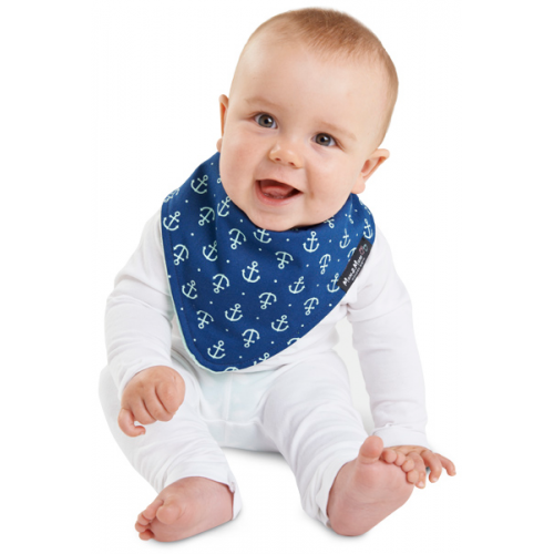 Mum 2 Mum Fashion Bandana Wonder Bib Navy Anchor Mint