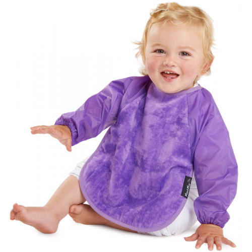 Mum 2 Mum Sleeved Bib Purple