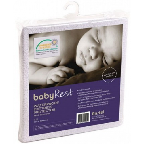 Babyrest Waterproof Standard Cot Mattress Protector