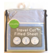 Playette Travel Cot Fitted Sheet Blue