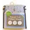 Playette Travel Cot Fitted Sheet Blue Elephant
