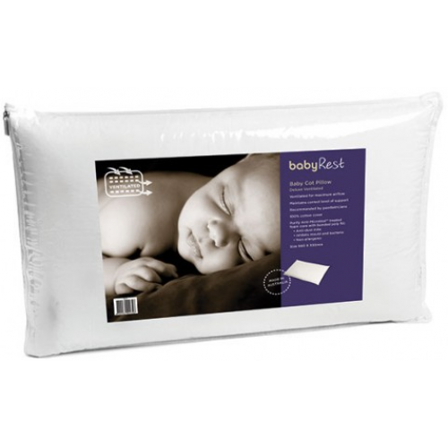 Babyrest Baby Cot Pillow Deluxe Ventilated