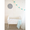 Living Textiles Bassinet Fitted Sheets Dream Big Aqua Stripe