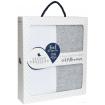 Living Textiles 2pk Jersey Cot Pillowcase White Grey Melange