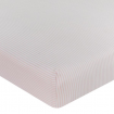 Living Textiles 2pk Jersey Cot Fitted Sheet Swan Princess Pink