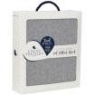 Living Textiles Cot Fitted Sheet Grey Melange