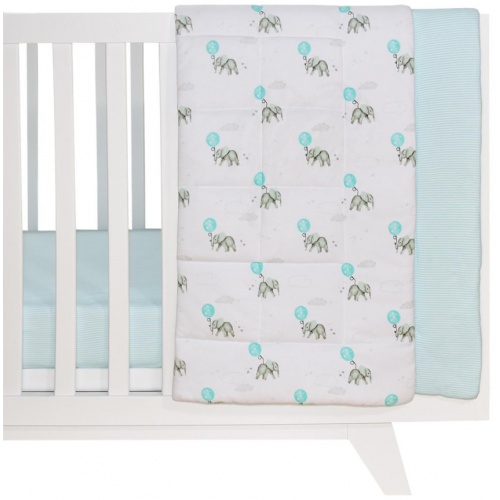 Living Textiles Cot Comforter Dream Big Aqua