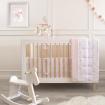 Living Textiles Jersey Cot Comforter Swan Princess Pink