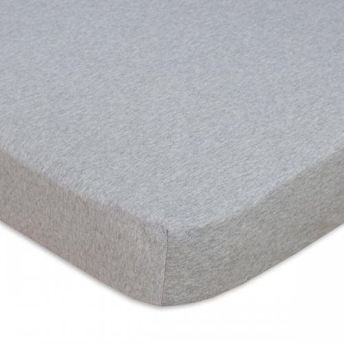 Living Textiles Cot Fitted Sheet Grey Melange