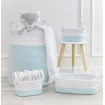 Living Textiles 3pc Rope Storage Set Aqua White