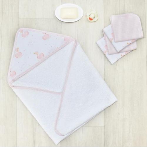 Living Textiles Bath Gift Set Swan Princess
