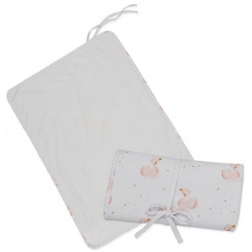Living Textiles Waterproof Travel Change Mat Swan Princess