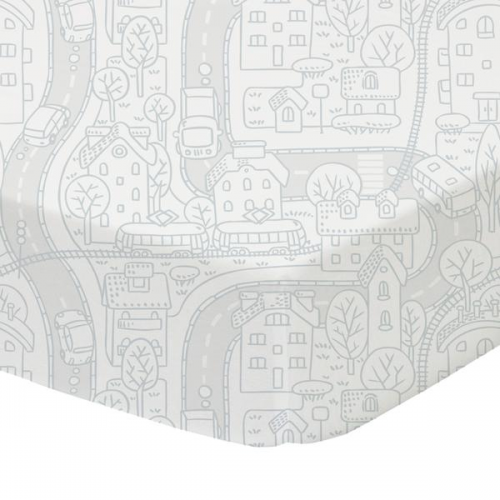 Lolli Living Cot Fitted Sheet City Map