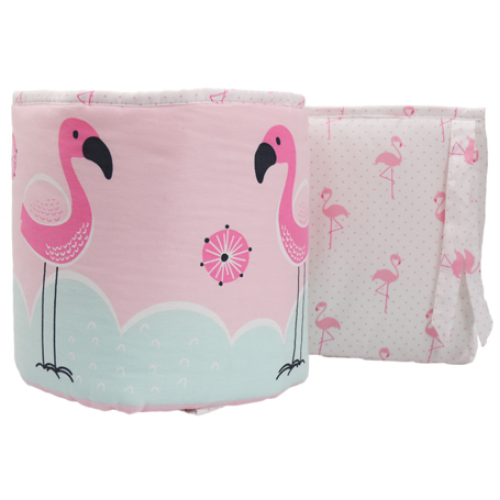 Lolli Living 2pc Cot Bumper Set Flamingo