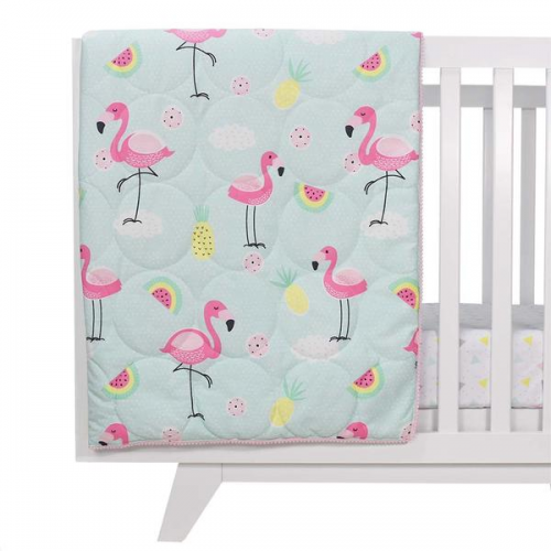 Lolli Living All Seasons Cot Quilt Flamingo