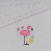 Lolli Living Waffle Cot Blanket Flamingo