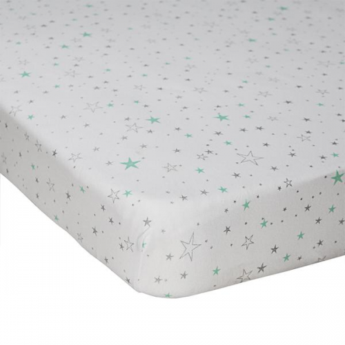 Lolli Living Jersey Fitted Sheet Shining Stars