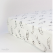 Bubba Blue Cotton Jersey Cot Fitted Sheet Organic Feathers
