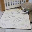 Bubba Blue Reversible Cot Quilt Organic Feathers