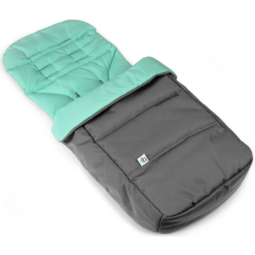 Bumbleride Footmuff and Seat Liner Dawn Grey Mint