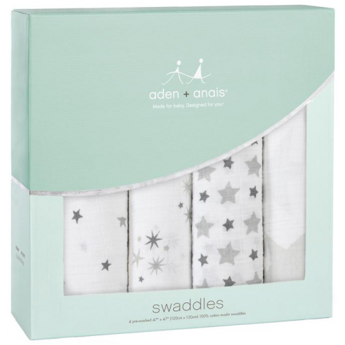 Aden Anais Classic Swaddles 4 Pack Twinkle