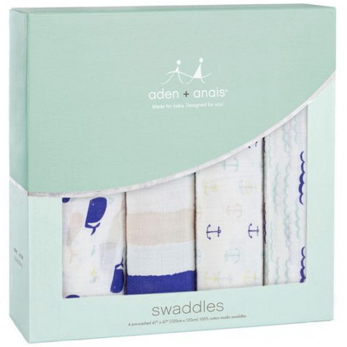 Aden Anais Classic Swaddles 4 Pack High Seas