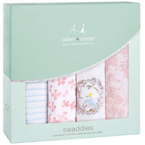 Aden Anais Classic Swaddles 4 Pack Birdsong