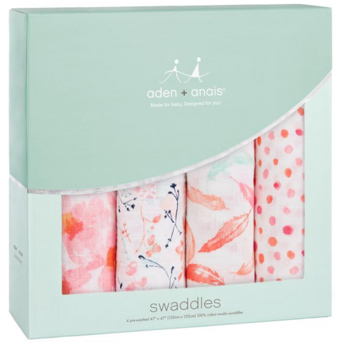 Aden Anais Classic Swaddles 4 Pack Petal Blooms