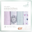 Aden Anais Muslin Swaddles 4 Pack Pretty Pink