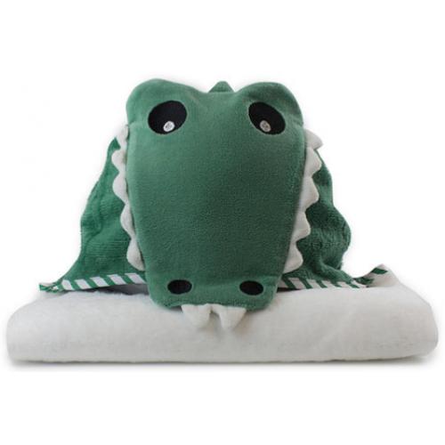 Bubba Blue Novelty Hooded Bath Towel Crocodile