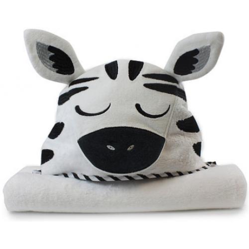 Bubba Blue Novelty Hooded Bath Towel Zebra