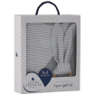Living Textiles Bib Burp and Teether Grey