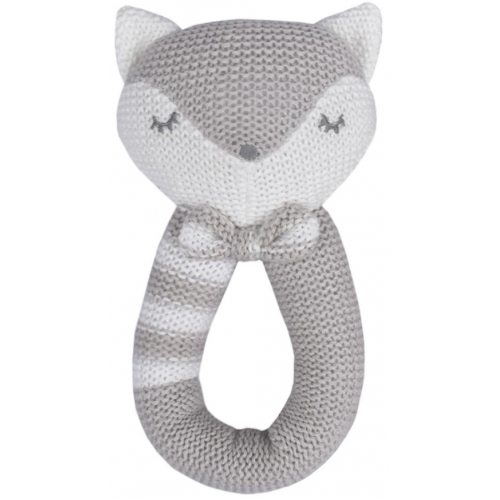 Living Textiles Knitted Rattle Charlie the Fox