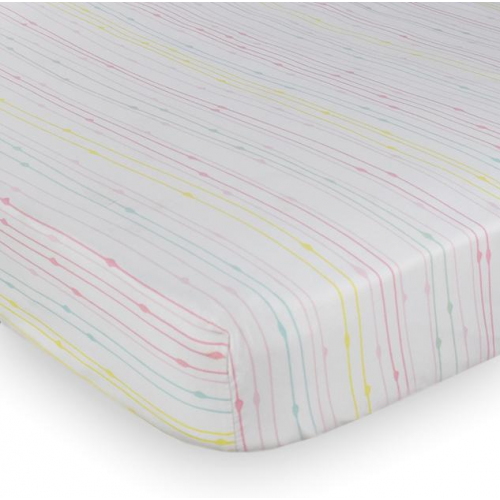 Lolli Living Cot Fitted Sheet Rainbow