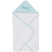 Living Textiles Hooded Towel Aqua Stripe