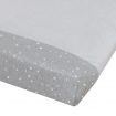 Living Textiles Jersey Change Pad Cover Grey Stars Towelling