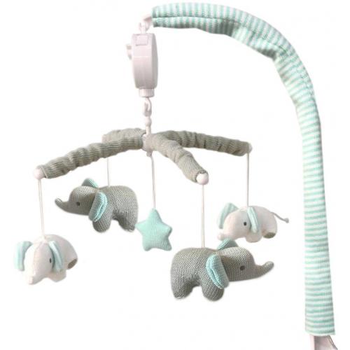 Living Textiles Musical Mobile Set Elephant