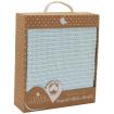 Living Textiles Organic Bassinet Cellular Blanket Aqua