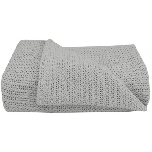 Living Textiles Cot Cellular Blanket Grey